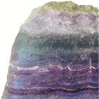 Фиолетовые камни камни: аметист, чароит, флюорит.